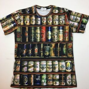 Beer graphics t-shirt size L